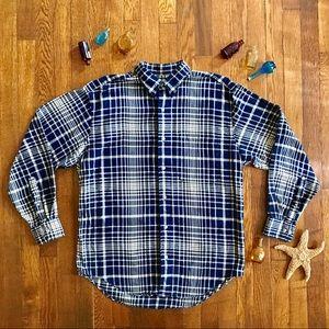 Men's Banana Republic Plaid Flannel Shirt #612
